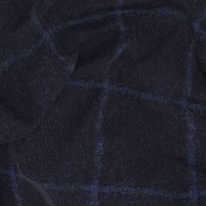 Jacket Blue Overcheck Alpaca