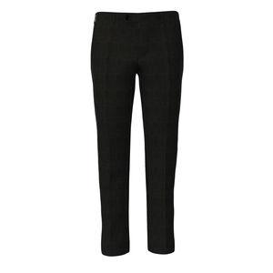 Pantalones Gris Príncipe de Gales Lana Seda