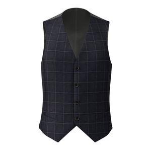 Waistcoat Midnight Blue Overcheck