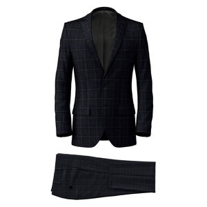 Suit Midnight Blue Overcheck