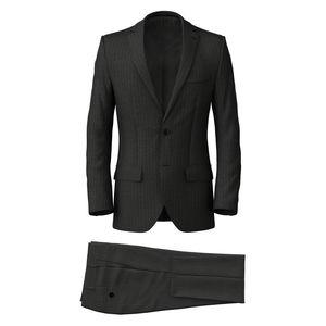 Suit Grey Blue Stripe