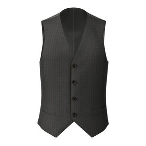 Vest Grey Blue Stripe