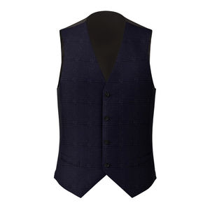 Waistcoat Monaco Blue Check