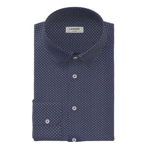 Hemd Blau Mikro-Dessin Flanell