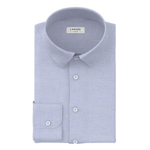 Camisa Celeste Micro Cuadros