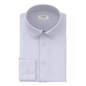 Shirt Light Blue Twill Cotton