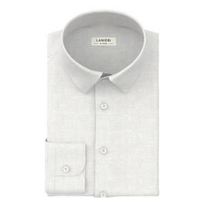 Camicia Bianca Inglese Dobby