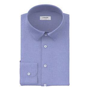 Camicia Blu Pied de Poule