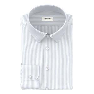 Camisa Soft Celeste Rayado