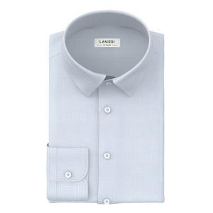 Camisa Celeste Pied de Poule