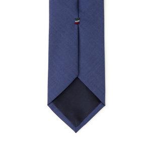 Cravatta Blu Elettrico Lana