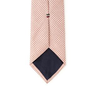 Cravatta Pied de Poule Rosa