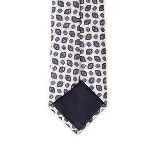 Cravatta Vintage Bianco Seta