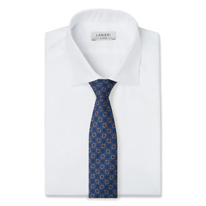 Cravatta Vintage Blu Seta