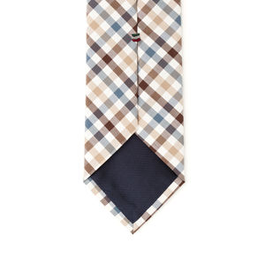 Cravatta Beige a Quadri