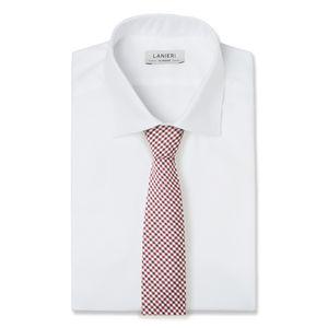Cravatta Marrone Viola a Quadri