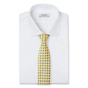 Cravatta Boteh Design Giallo Seta