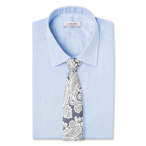 Cravatta Paisley Grigio Seta