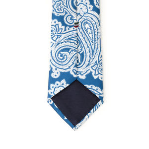 Cravatta Paisley Blu Elettrico Seta