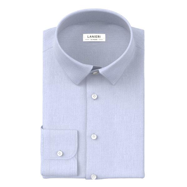 Camicia Ibieffe Quattro Stagioni Tinta Unita Azzurro