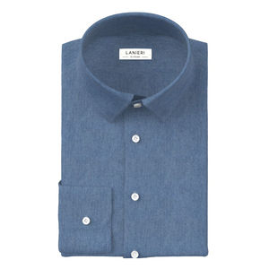 Hemd Denim Azurblau