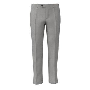 Pantalon Gris Perlé Laine Soie