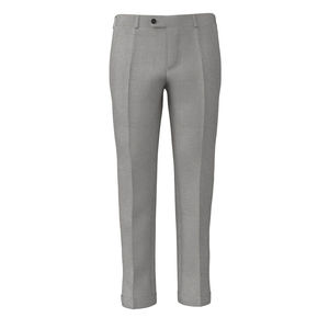 Trousers Grey Wool Silk