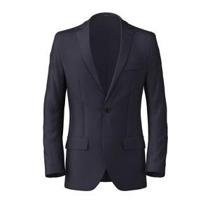 Blazer Dark Navy Blue Wool Silk