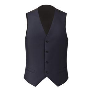 Waistcoat Dark Navy Blue Wool Silk