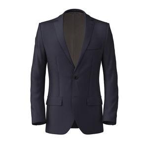 Jacket Dark Navy Blue Wool Silk