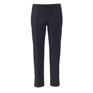 Pantalon Bleu Outremer Laine Soie