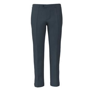 Pantalone Cotone Spigato Azzurro