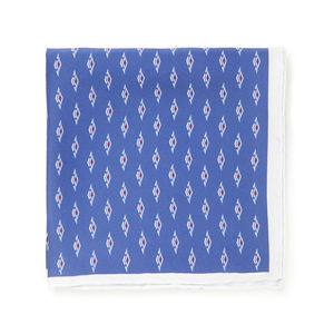 Pochette Seta Geometria Azzurra