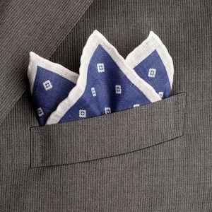 Pochette Lino Microdesign Blu