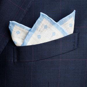 Pochette Lino Microdesign Azzurra