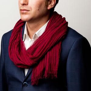 Sciarpa Cashmere Seta Rosso Tessuto prodotto da  Botto Giuseppe & Figli