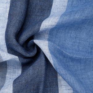 Sciarpa Lino Blu Righe