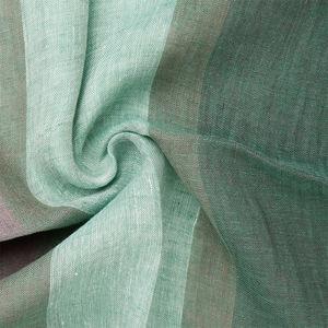 Sciarpa Lino Verde Righe