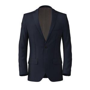 Giacca 160's Blu Spigato
