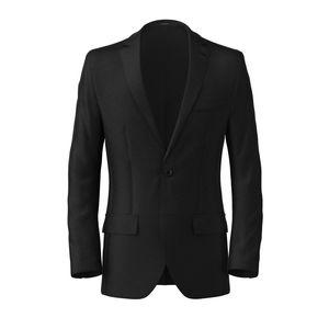 Blazer Black Wool Silk