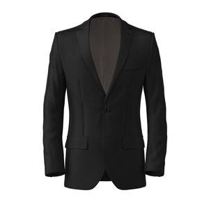 Jacket Black Wool Silk