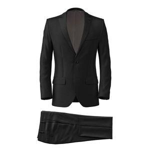 Costume Noir Laine Soie