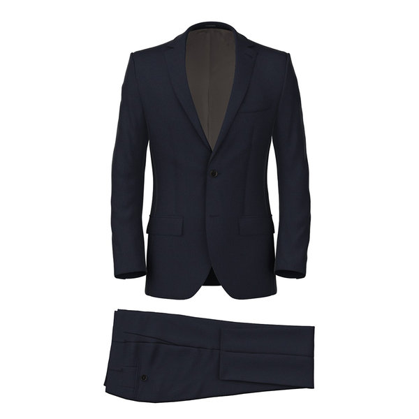 160's Blue Herringbone Suit Fabric produced by  Drago