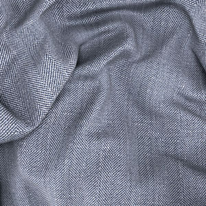 Jacket Linen Blue Herringbone