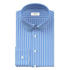 Camicia Azzurra City a Righe