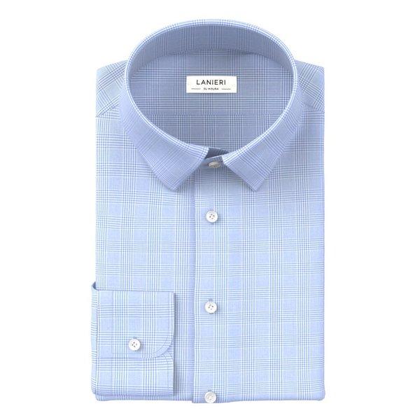 Camicia Albini Quattro Stagioni Principe di Galles Azzurro