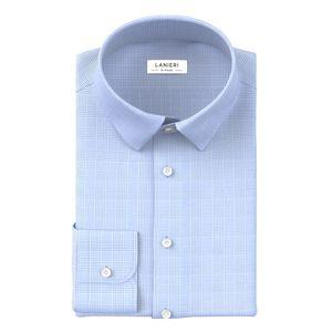 Camicia Azzurra Principe di Galles Cotone