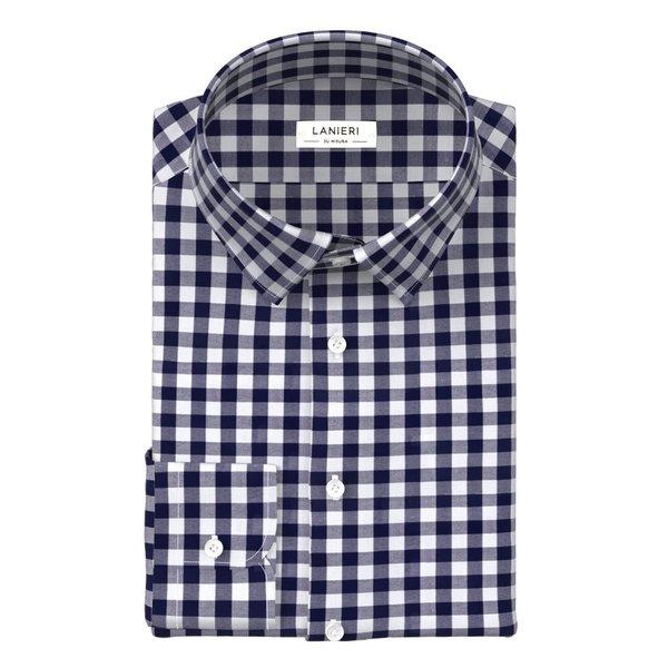 Camicia Albini Quattro Stagioni Quadri Blu