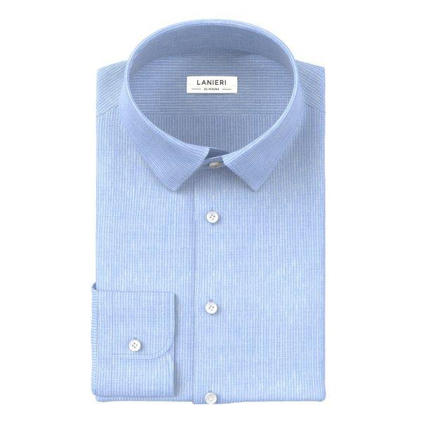 Camicia Albini Primavera/Estate Quadri Azzurro