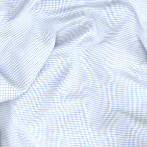 Camicia Azzurra Pied de Poule